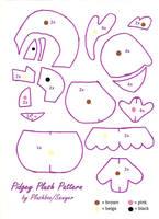 Pidgey Plush Pattern by Plushbox