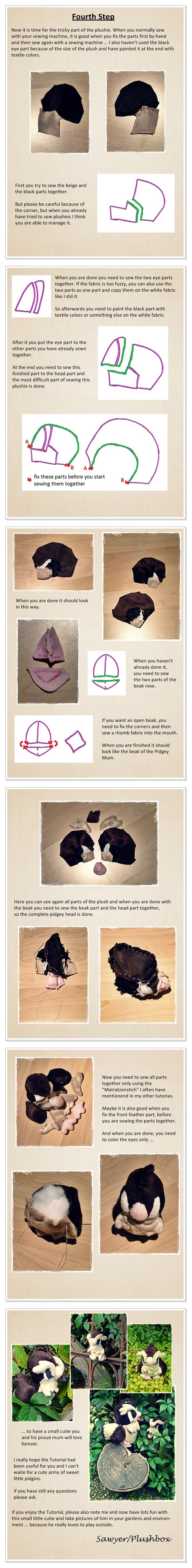 Pidgey Plush Tutorial II by Plushbox