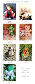 Birthday Plushies 2009 - 2014