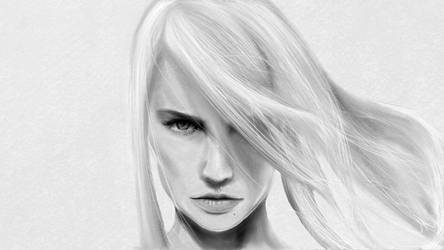 Samus - Black + White [Chic Exstential Edition] by cloudedrealm
