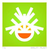 Happy : Smilin' Alien by rjwarrier