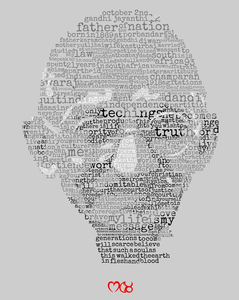 Gandhi by rjwarrier