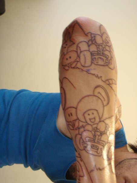 My Mario Bros. Sleeve - sleeve tattoo