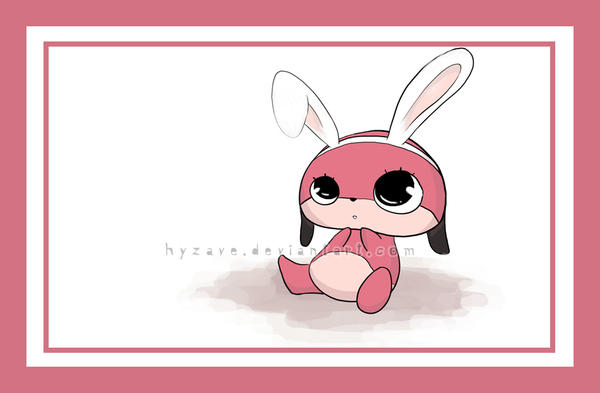 Maromi is turning bunny by Hyzave