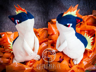 Quilava plush by Hyzave