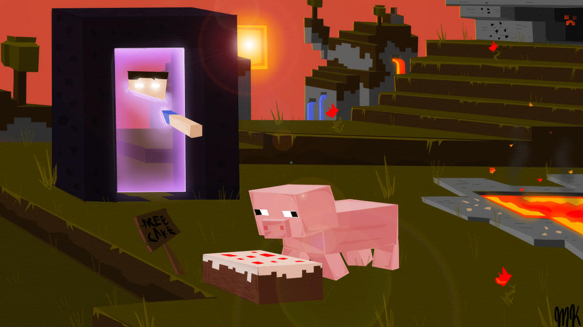 Minecraft Herobrine Trap By Marckasprzyk On DeviantArt - Minecraft herobrine spiele