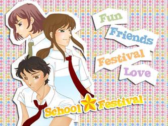 School festival, dating sim otome game by TheLazyFatCat