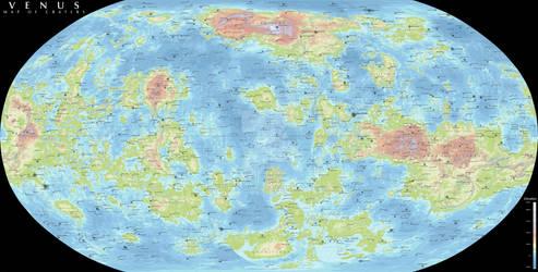 Venus - Map of Craters