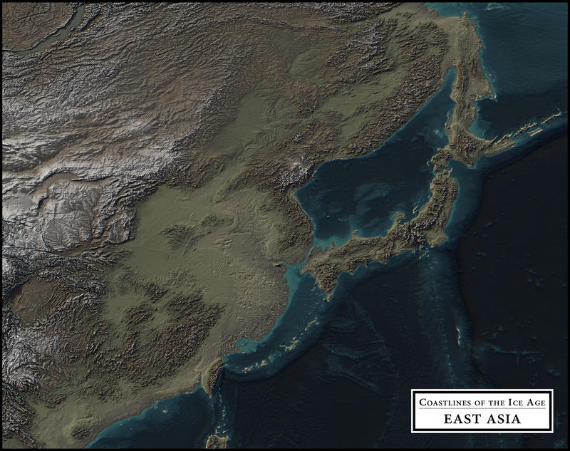 coastlines of the ice age east asia by atlas v7x