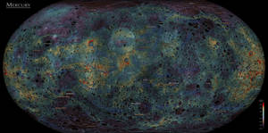 The Planet Mercury - Elevation Map by atlas-v7x