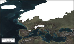 Coastlines of the Ice Age - Europe (Ice cover) by atlas-v7x