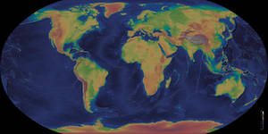 The Planet Earth - Elevation Map by atlas-v7x