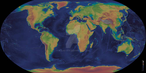 The Planet Earth - Elevation Map
