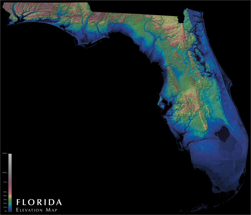 Florida elevation map by atlas v7x on deviantart florida elevation map by atlas v7x gumiabroncs Choice Image