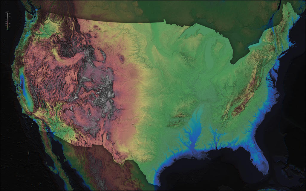 America elevation map by atlas v7x on deviantart america elevation map by atlas v7x gumiabroncs Gallery