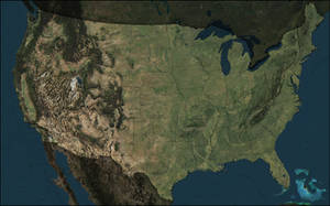 America Terrain Map (with state boundaries) by atlas-v7x