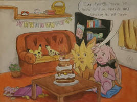 Birthday Party Comfort by CartoonCrazy007