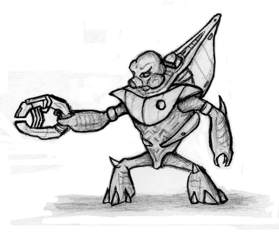 How To Draw Halo Grunt