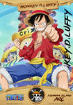 Monkey.D.Luffy Card-by-leegrove