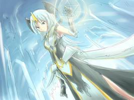 Sketch. Ice Mage by mysticswordsman21