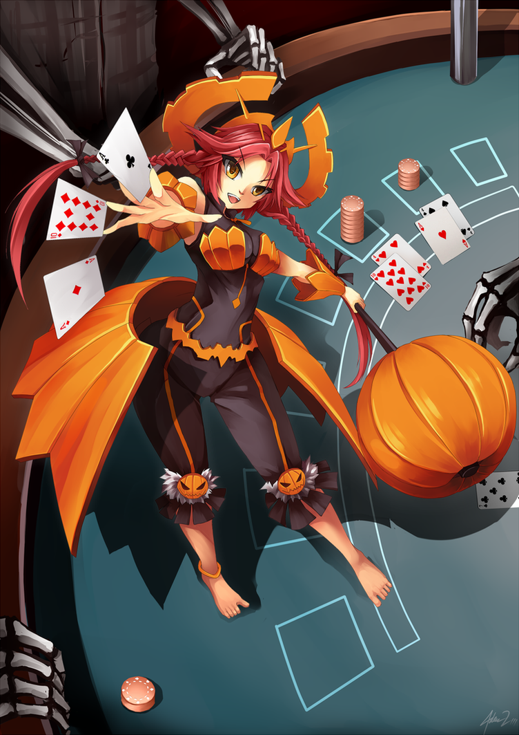 Poker Pumpkin by mysticswordsman21