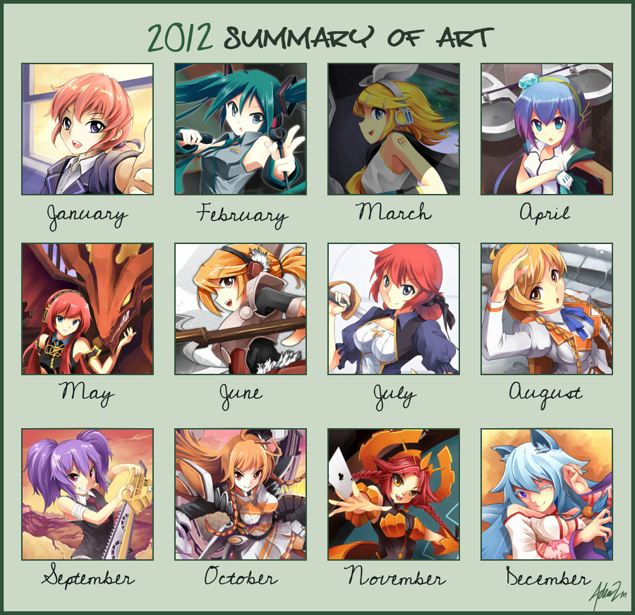 Mystic's Summary 2012 by mysticswordsman21