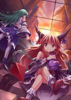 ZeroTwo - Suika n Sanae by mysticswordsman21