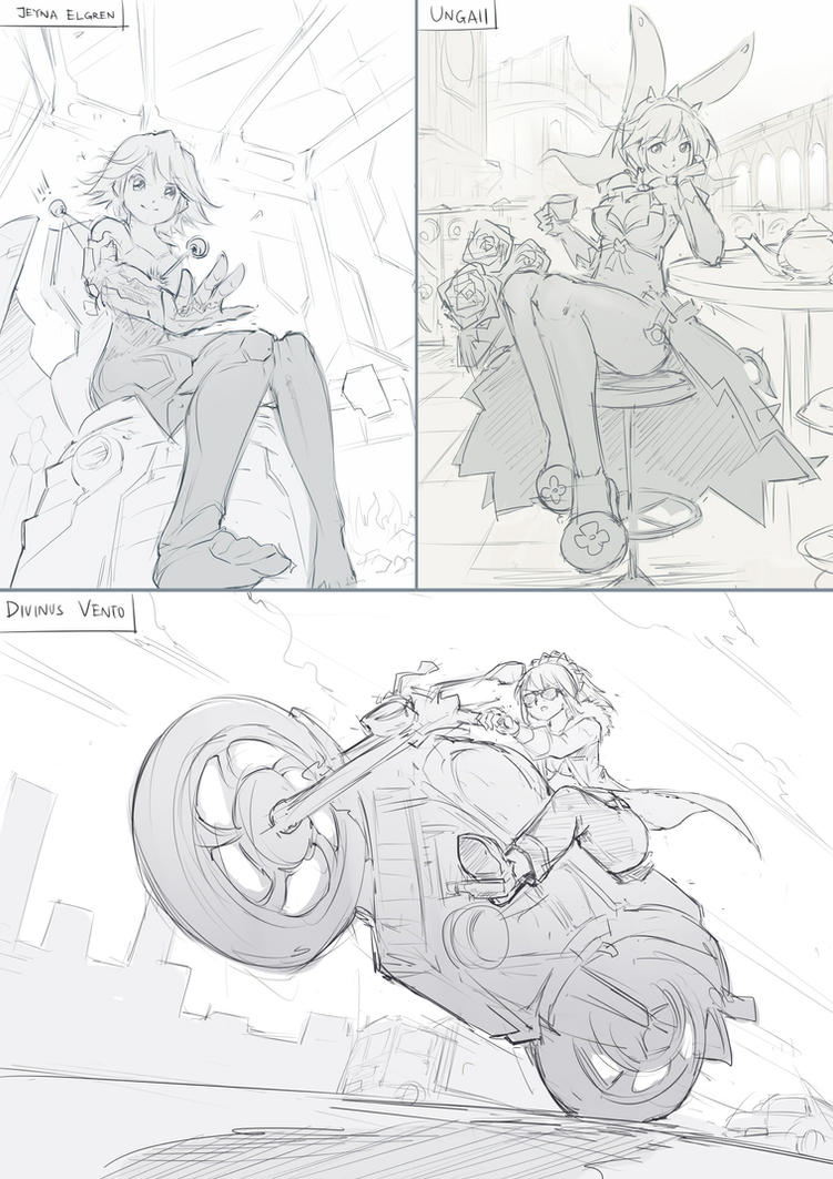 Commission Sketches by mysticswordsman21
