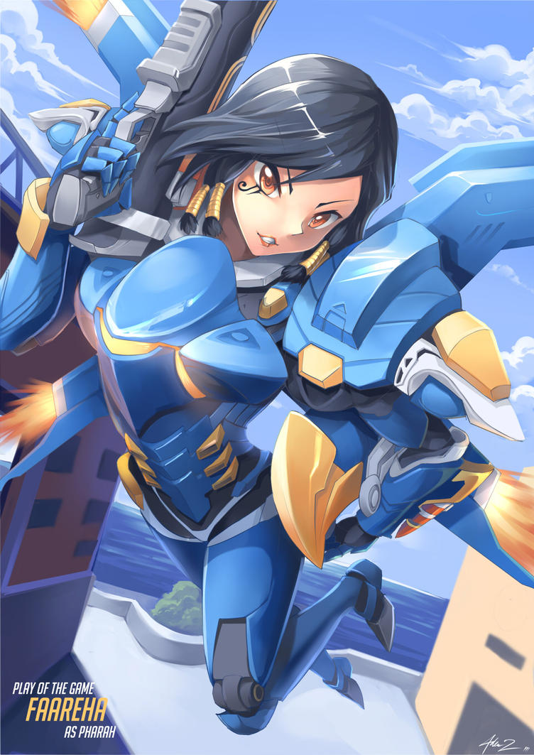 Overwatch Pharah by mysticswordsman21
