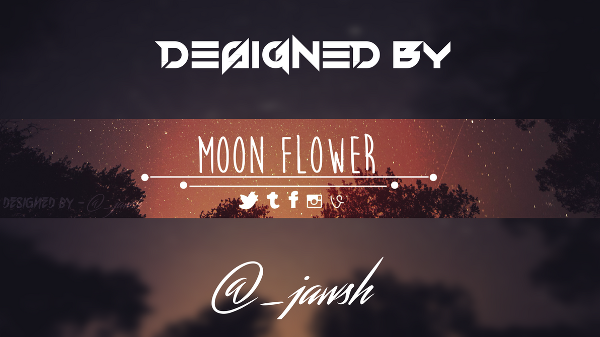 moon flower youtube banner template free by rivalofkhaoz on deviantart. Black Bedroom Furniture Sets. Home Design Ideas