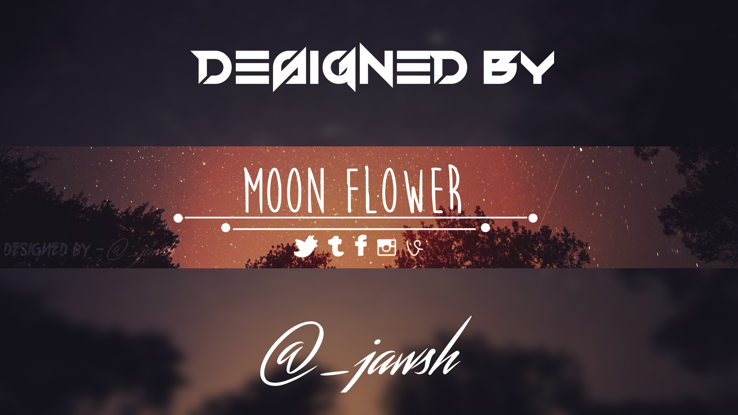 Moon Flower (Youtube Banner Template) [FREE!!!] by RivalOfKhaoz on ...