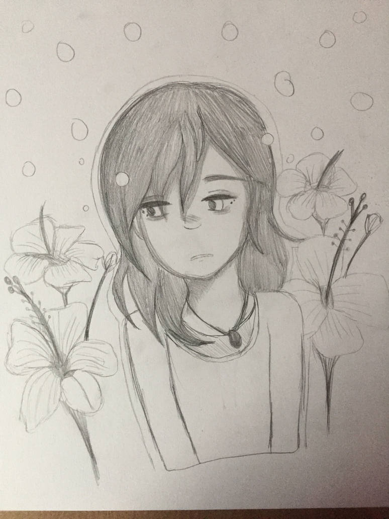 In a breeze of flowers by DRAWINGGIRL10