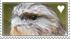 Tawny frogmouth stamp by LilithiumStamps