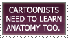 Cartoonists and anatomy by LilithiumStamps
