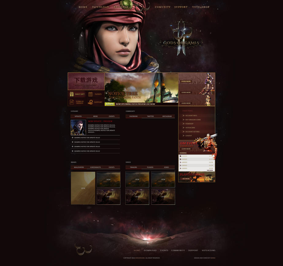 webdesign_series_gods_of_games_two__by_w
