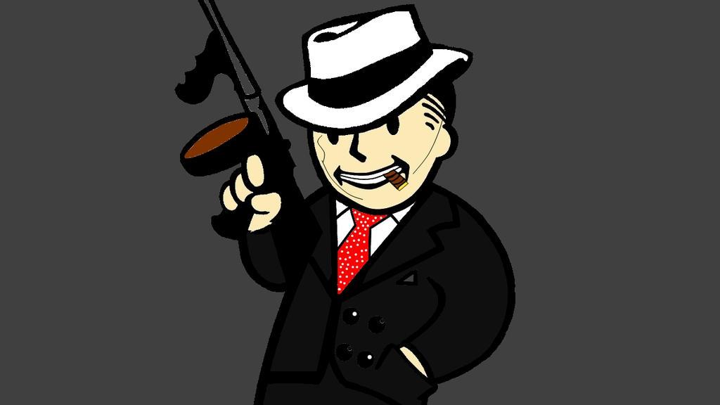 Vault Boy Wallpaper Vault Boy al Capone by