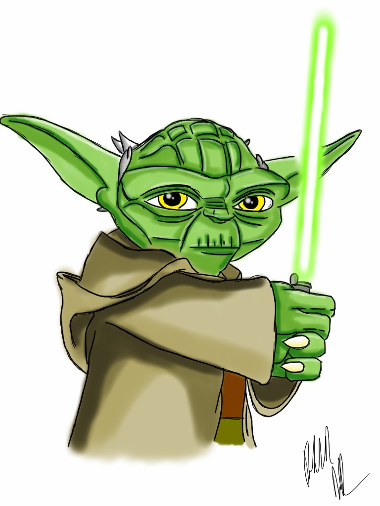 Yoda by PTRK-3CYoda Face Drawing