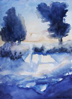 Trees in the snow by NumiComics