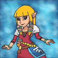 Skyward Zelda by StrongSeanMann