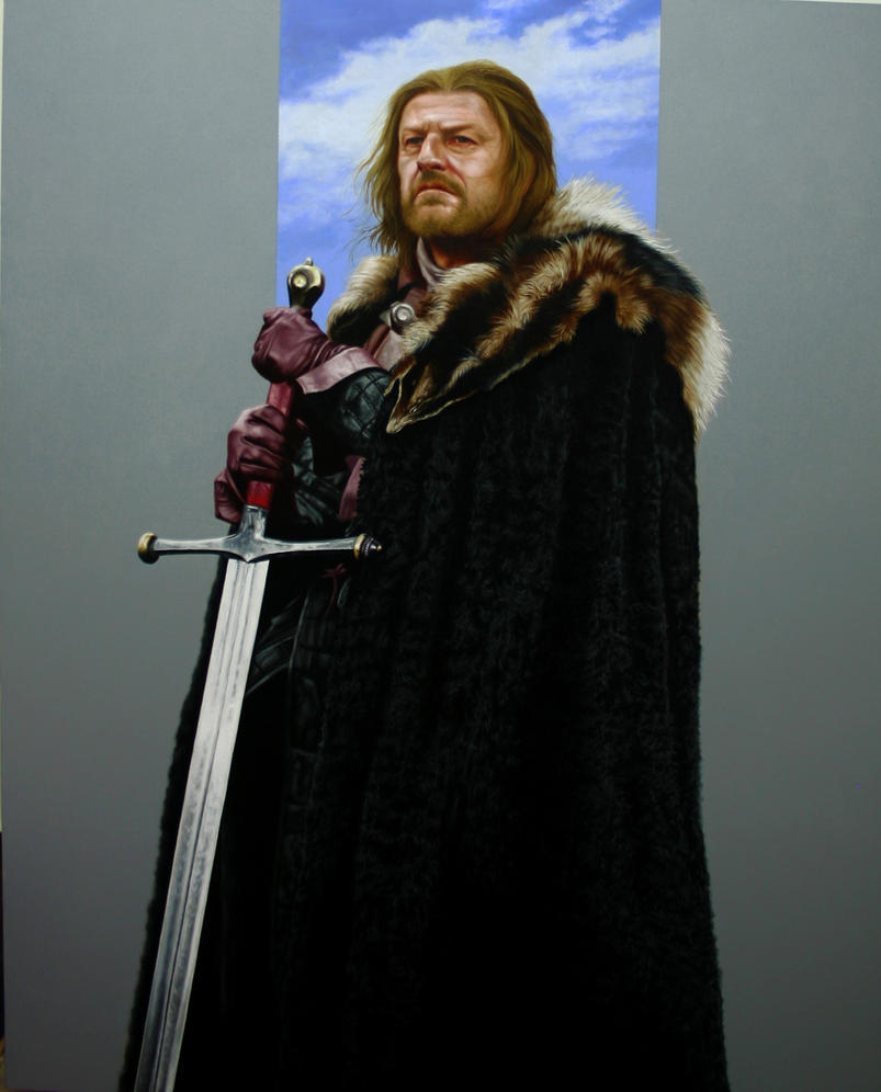 Ned Stark, oil on canvas. by renato54