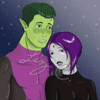 Beast Boy and Raven by My-Fairy-Lust