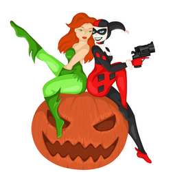 Harley and Ivy Halloween by Im-a-dream