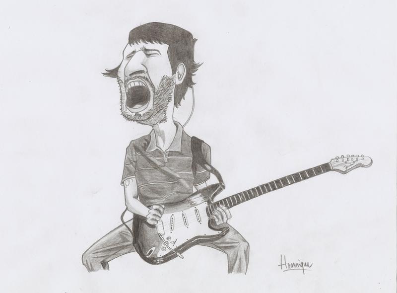 John Frusciante Caricature by hsr4