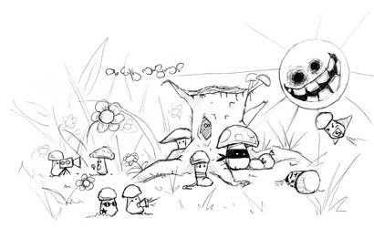 Mushroom robbery by Pie-with-mushrooms