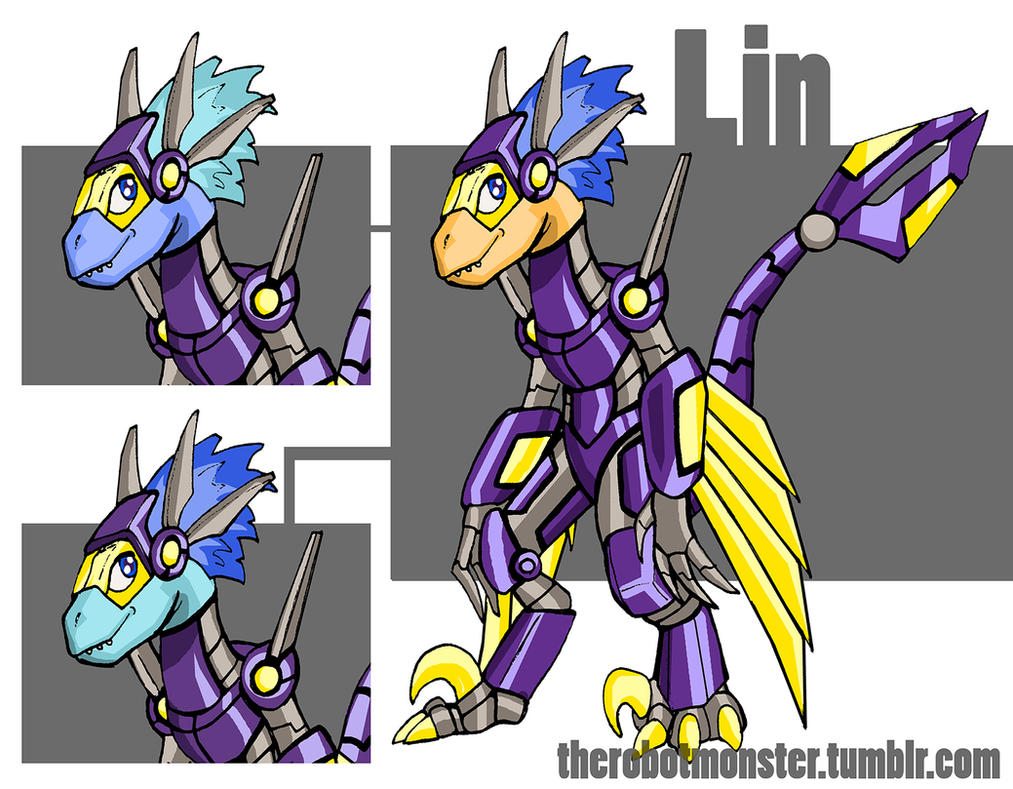 Lin the Velociraptor v1.5 by TrentTroop