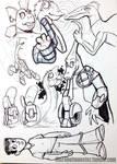DinoKnights Sketches 02 - Various Designs