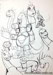 DinoKnights Sketches 04 - Commander Camar