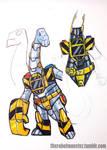 DinoKnights Sketches 07 - Slammerhead Armor