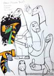 DinoKnights Sketches 09 - More Brach