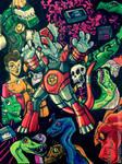 DinoKnights Sketches 10 - Color Sketchpage